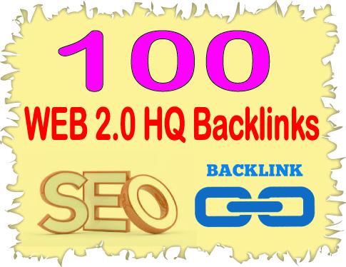 Create 100 High PR Web 2.00 Highest Quality & Most Effective Backlinks