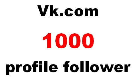 Will Increase Your 1000 Vk. com profile follower on social media Top Networks