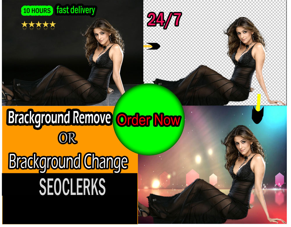 Remove or change background in photoshop
