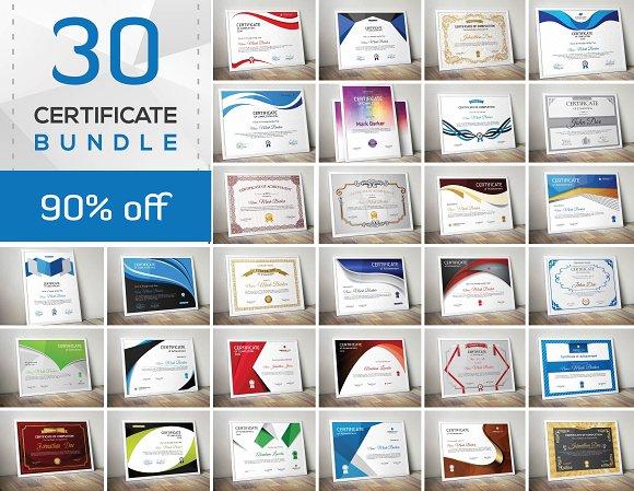 Get 30 Certificate Bundle SOURCE VECTOR EPS
