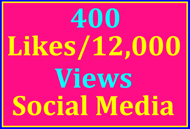 600+ Likes In Social Media Pic Or 12,000 Views Instant Start
