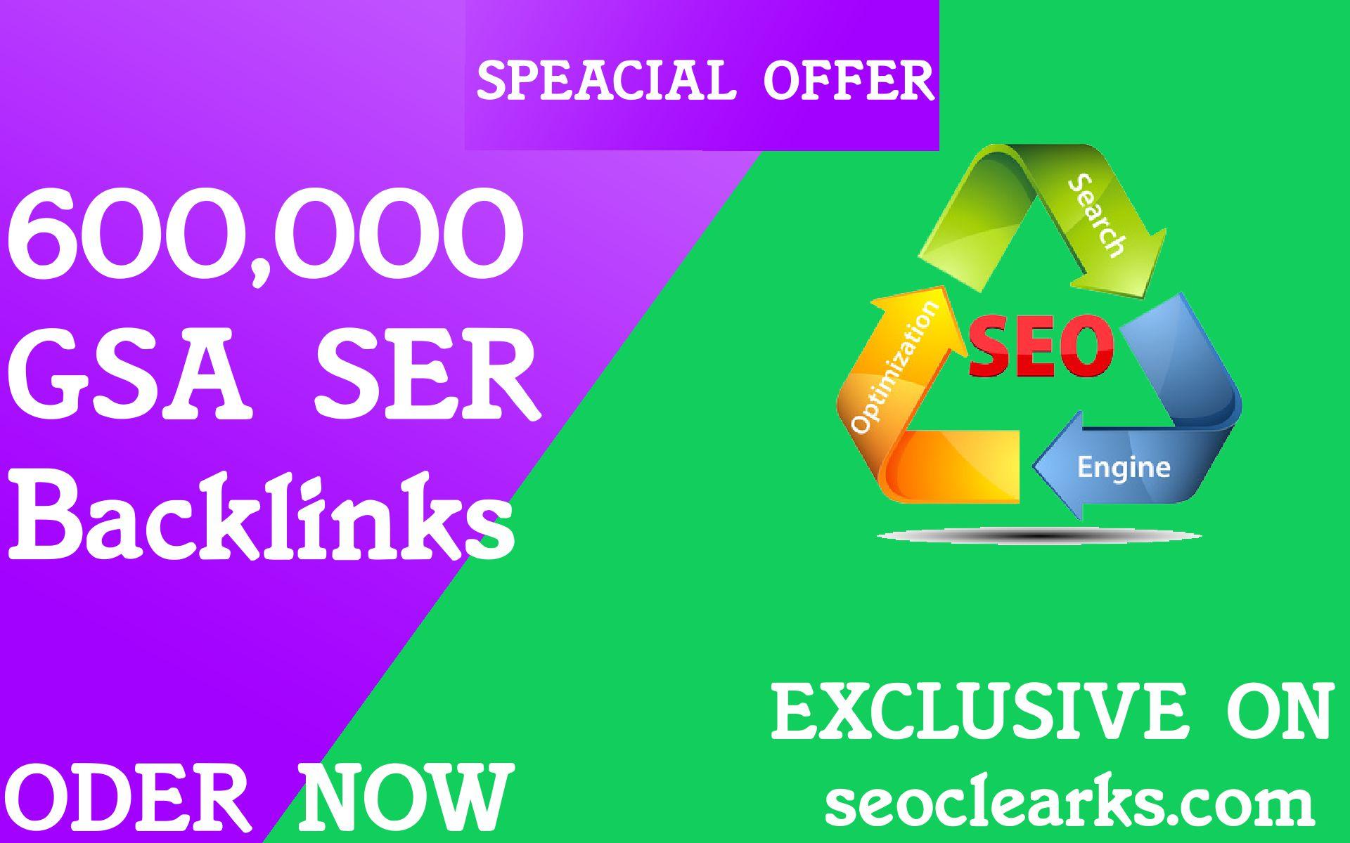 600,000 GSA SER Verified Backlinks for SEO Ranking