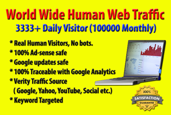 100000+ Human Web Site Traffic in 30 Days
