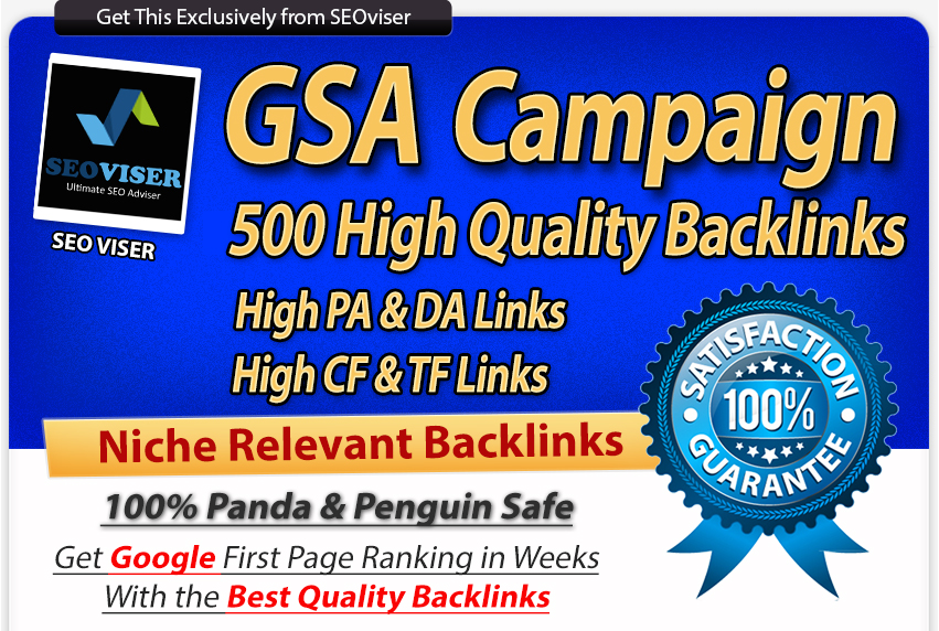Verified Niche Relevant Gsa Backlinks For Unlimited Urls And Keywords