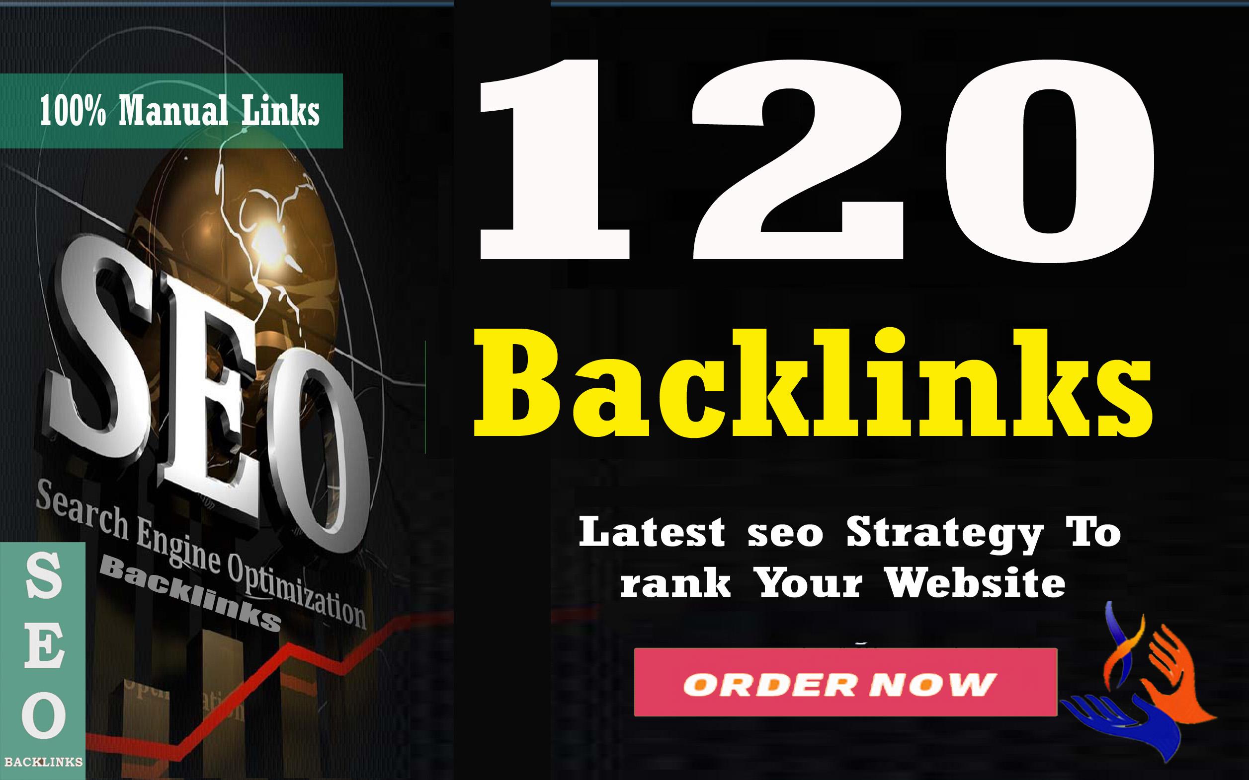 Create 120 High PR SEO Backlinks On DA100 sites Plus Edu Links