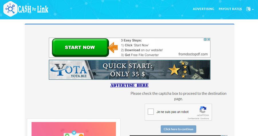 2 Months banner ads above captcha of my url shortener site 728x90 or 920x90 special offer
