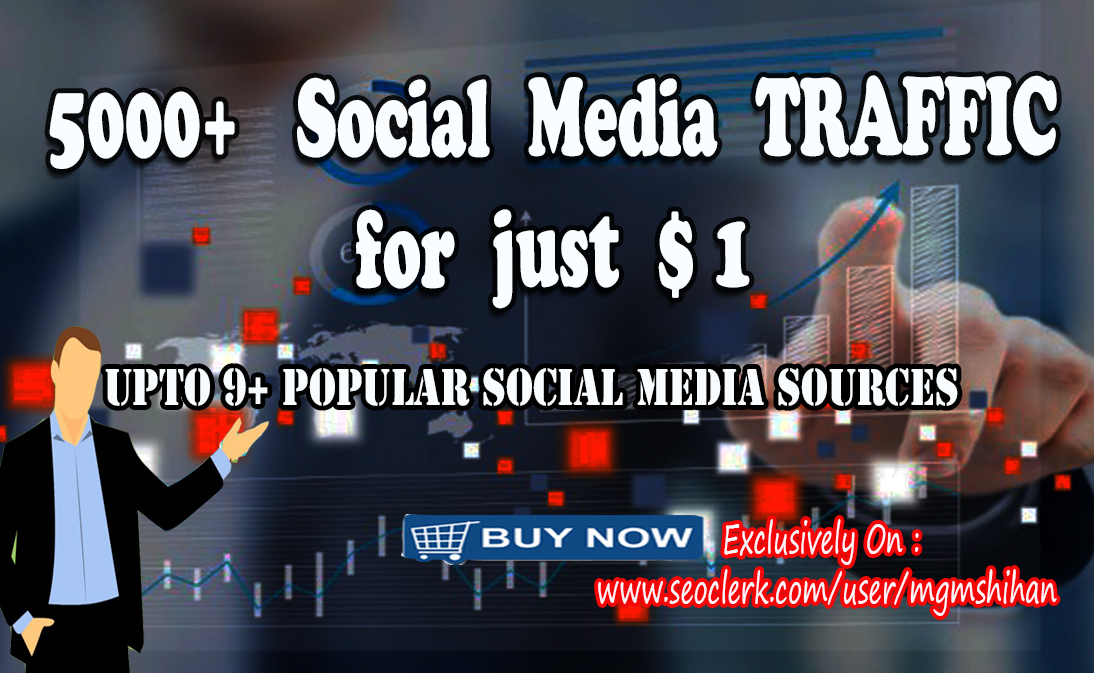 5000+ AdSense Safe Social Media TRAFFIC