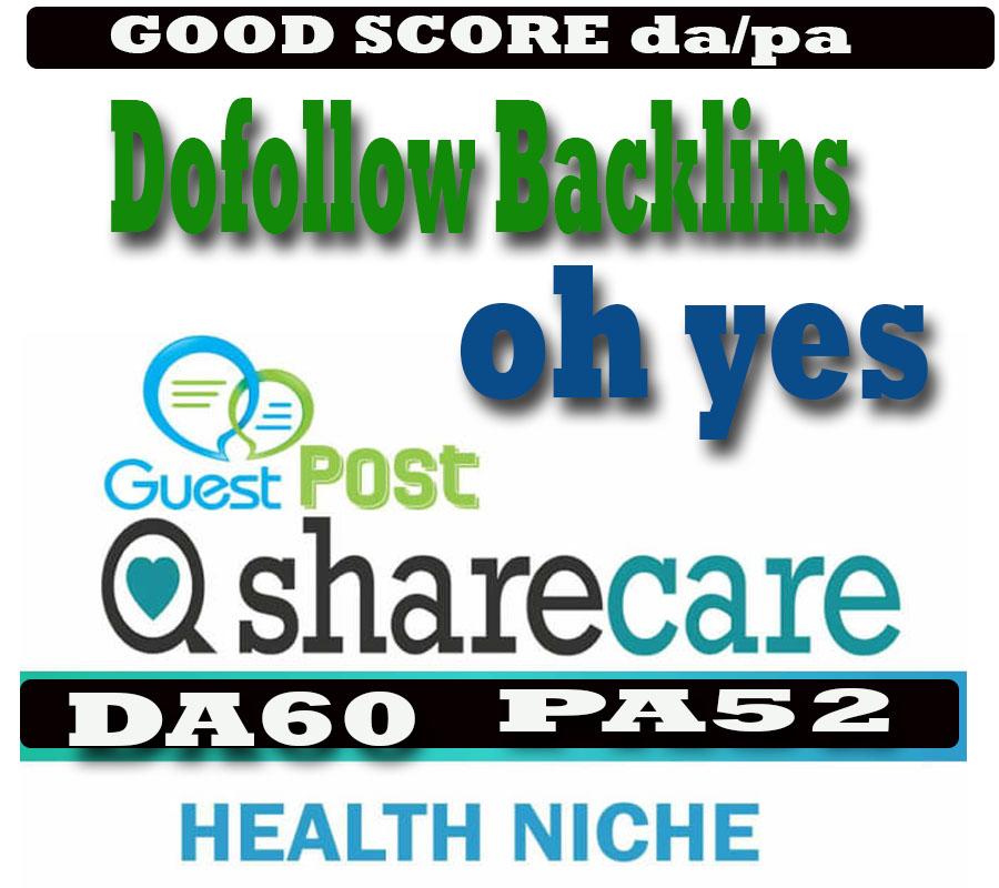 do guest post on DA60 health blog