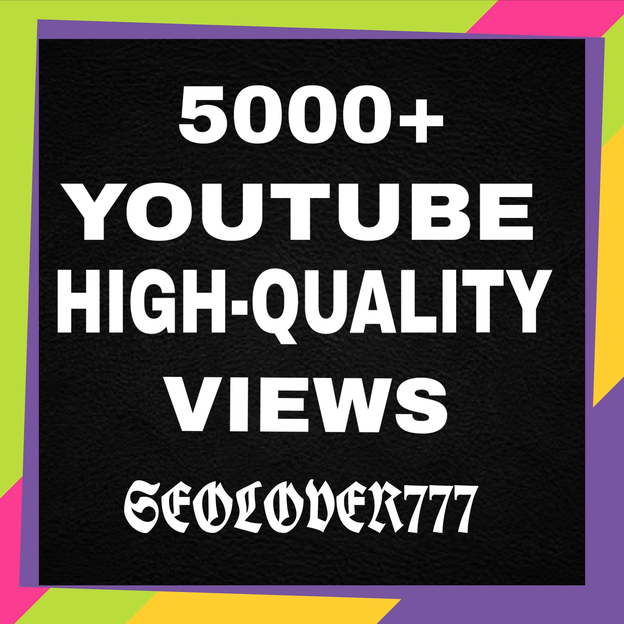 "Non-Drop 5,000+ High-Quality You""tube video Vi""ews  only"