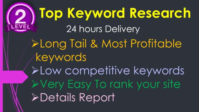 I am provide ranking keyword research