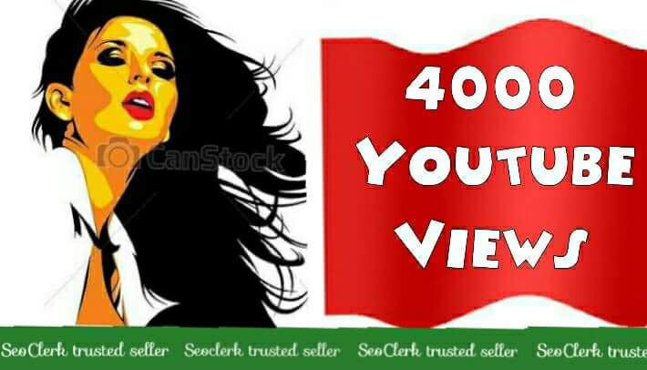 1000 to 4000 High Quality YouTube views super fast speed