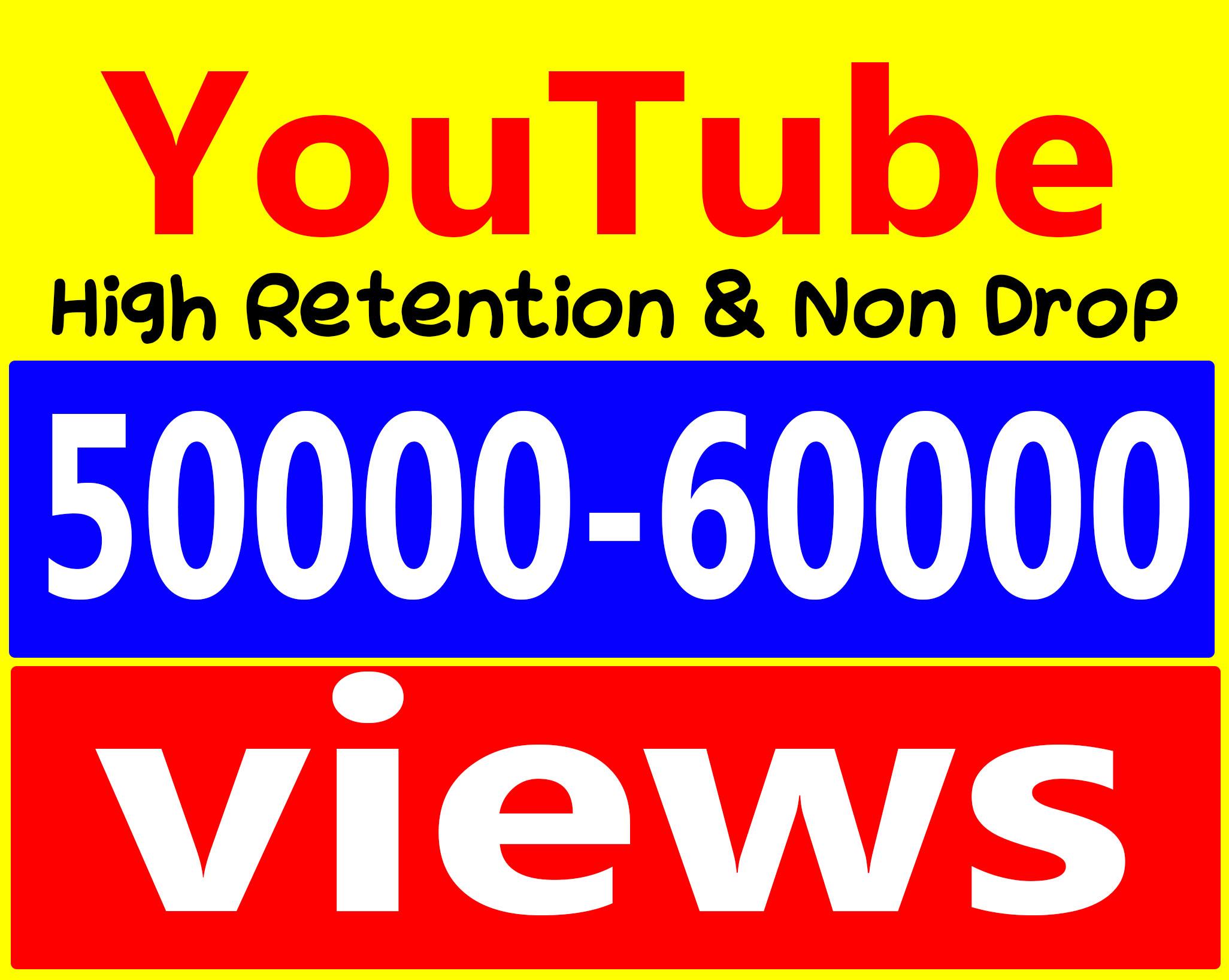 Fast 50,000 To 60,000 Views High Retention 9099 Adsense Safe amp Non Drop