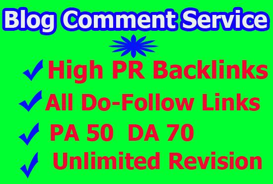 Top 50 niche relevant blog comment