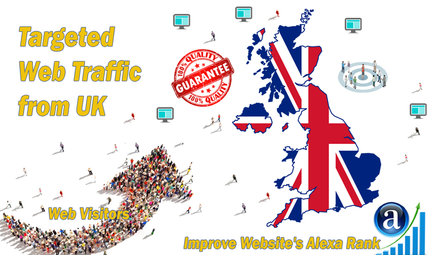 Send 25.000 UK web visitors real targeted geo traffic