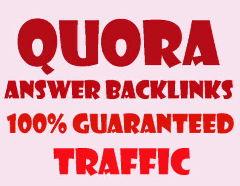 18 Quora answer with High Quality Backlinks