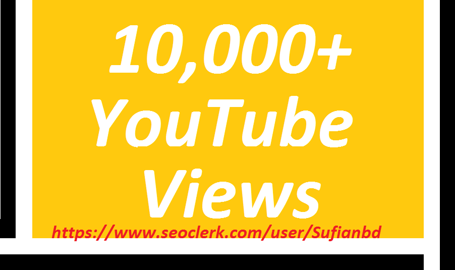 Happy new year offer 10,000 YouTube Viewssuper fast delivery