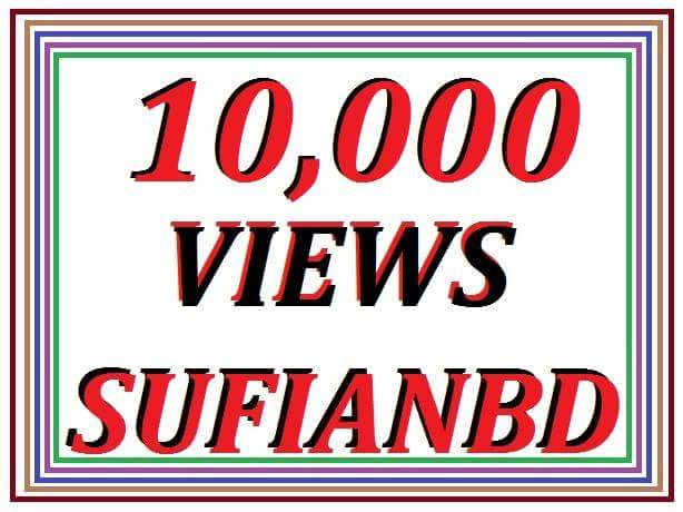 offer 10,000+ YouTube real views non drop garented