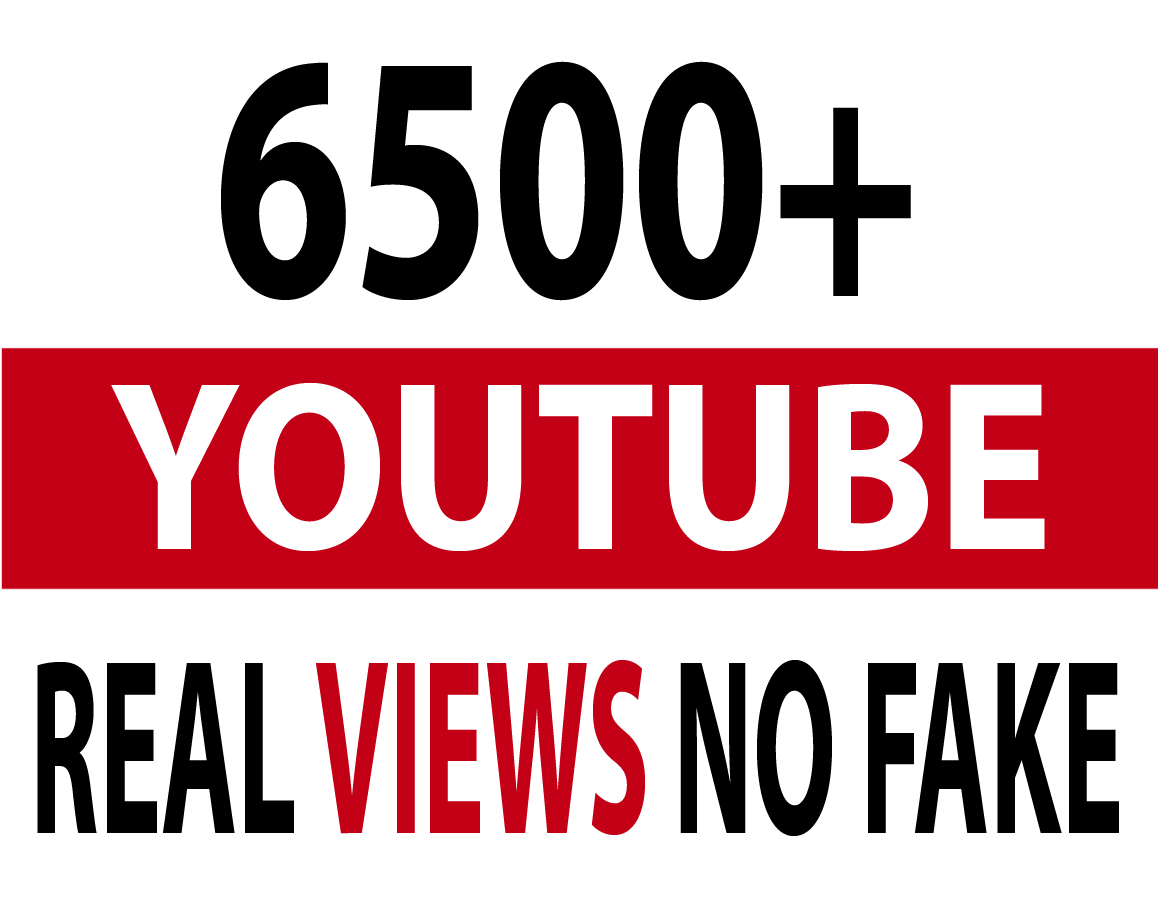 6500+ Real Youtube Views No Fake High Quality Subscribers Likes Comments Bonus
