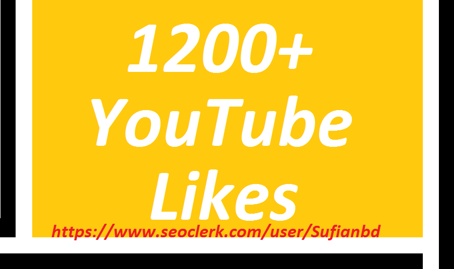 Happy new year offer 1200YouTube likes super fast delivery