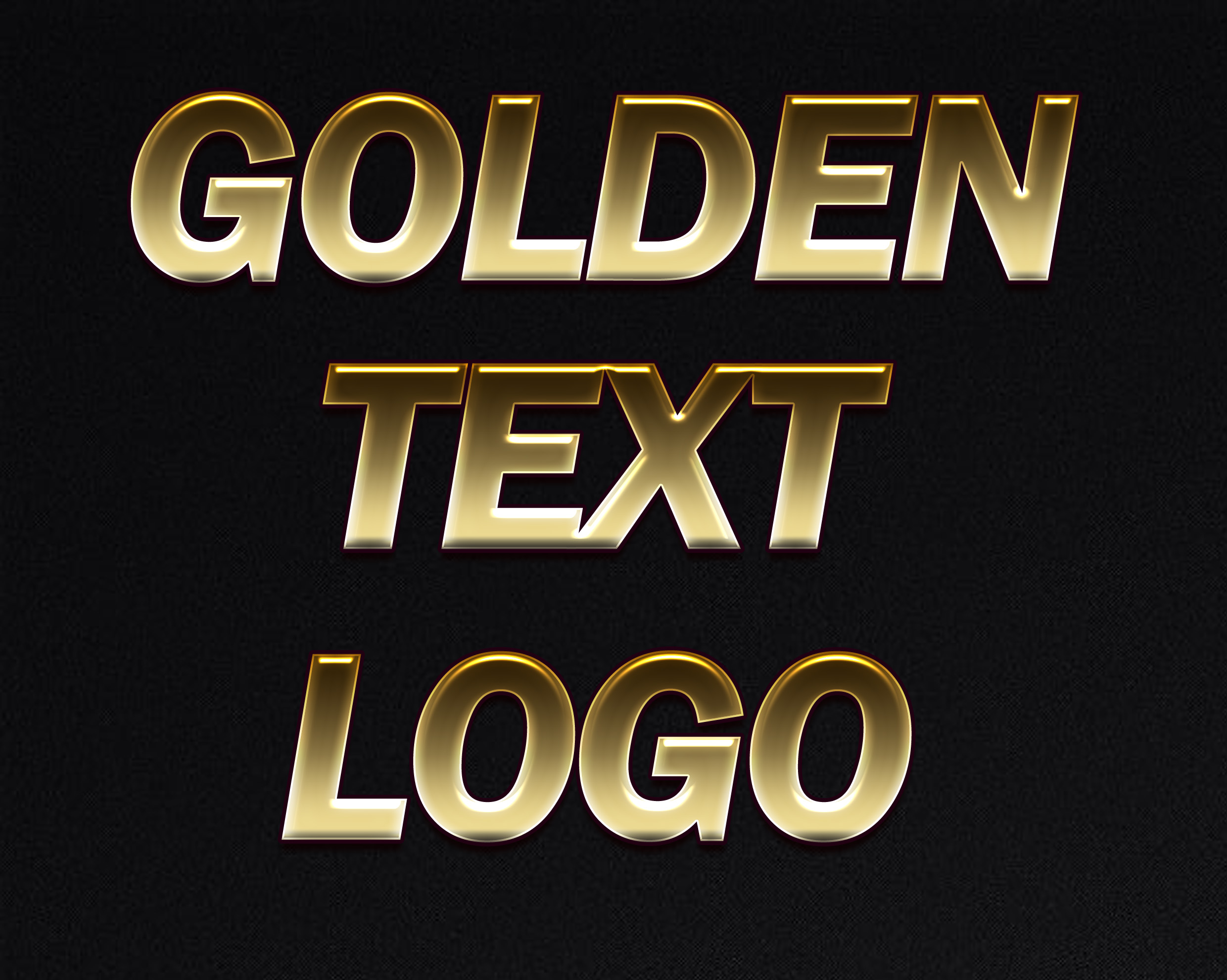 5 3D Golden Text Logo Bumper Offer