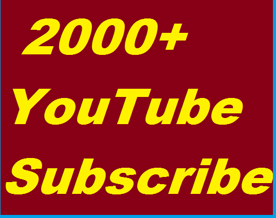 3000+ Youtube High Quality Subscribers Non Drop Guaranteed Complete in 24 Hours