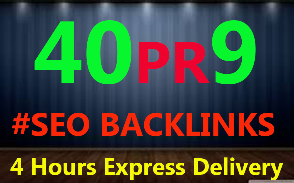 Manually Do 40 PR9 Backlinks From Authority Domins Safe SEO