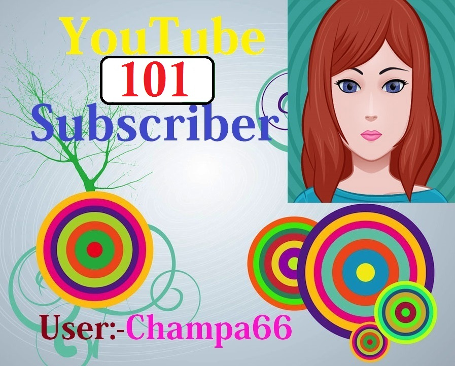 Never drop 101 YouTube subscriber with bonus safe and real active fast