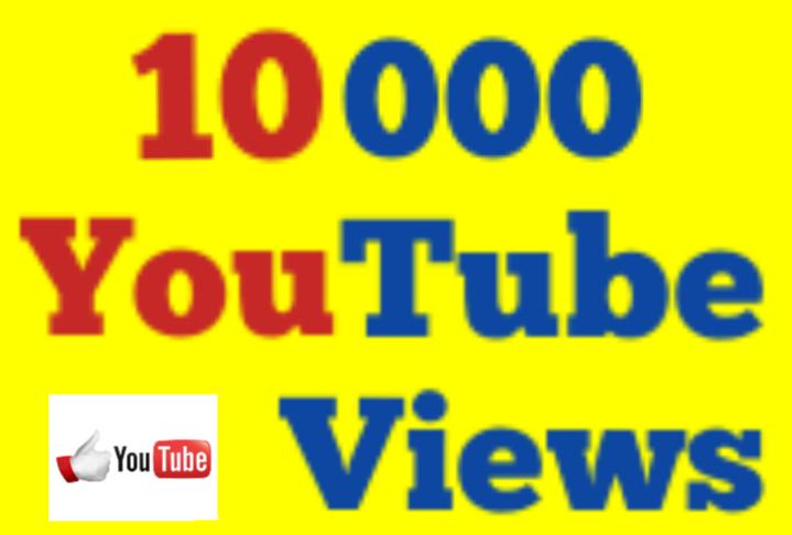10,000 to 15,000 High Quality Non Drop Youtube Vi ews 12/36 hrs Guaranteed