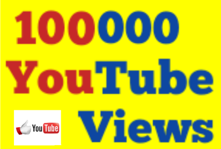 1,00,000 Or 100K Or 1 Lakh High Quality Youtube Vi ews with Extra Choice 5000,10000,15000,25000 and 50,000, 50K, 100,000 100K, 200K, 300K, 500K 1 Million