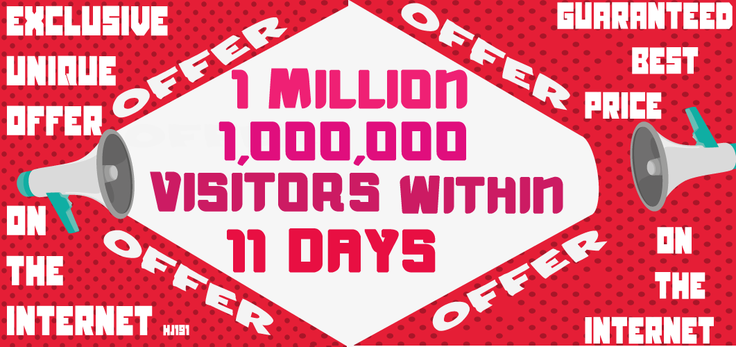 Get 1 Million 1,000,000 Visitors Traffic Within 11 Days