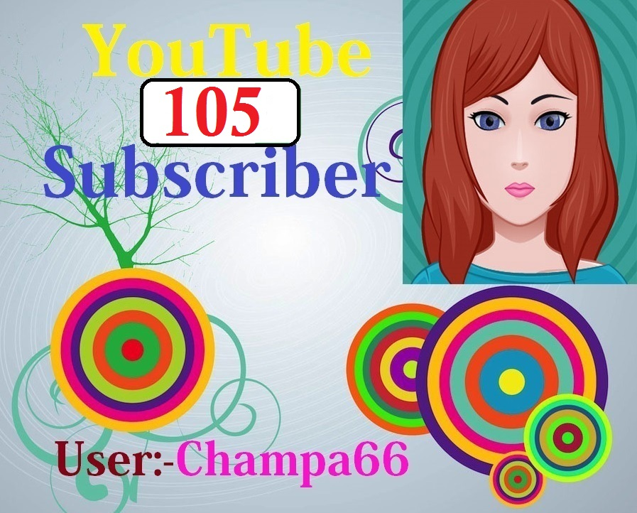 Guarantee YouTube 105+subscriber non drop fully safe and real active quick delivery