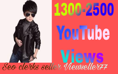 Instant start 1000 to 1500 YouTube views non drop Refill Guaranteed very fast completed