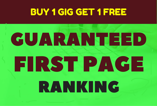Guarantee First Page Ranking with 30 High Pr Do Follo...