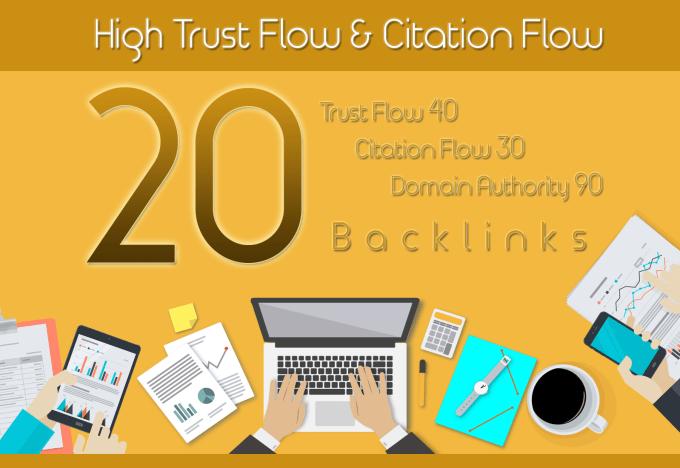 Do 20 High Trust Flow And Citation Flow Backlinks On High Da