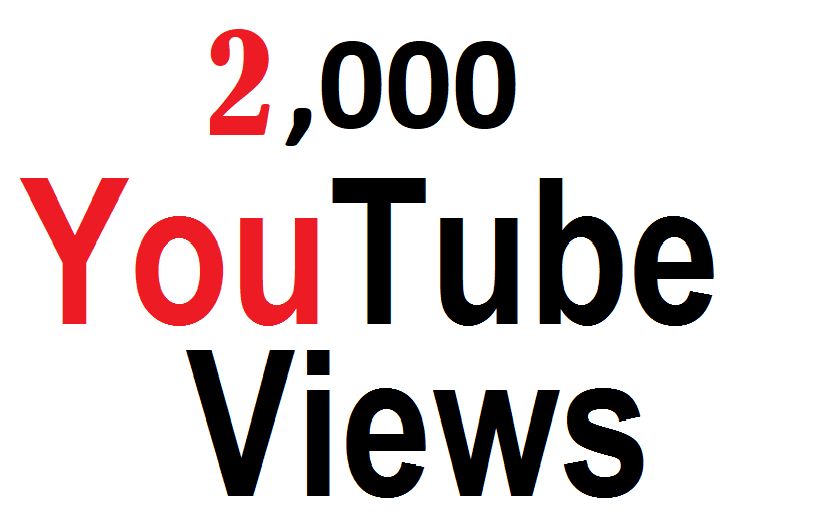 Give 2,000 High Quality uTube Vie -ws fully safe instant start
