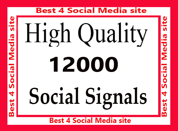 Best 5000 high Quality Social Signals 5 Best Media si...