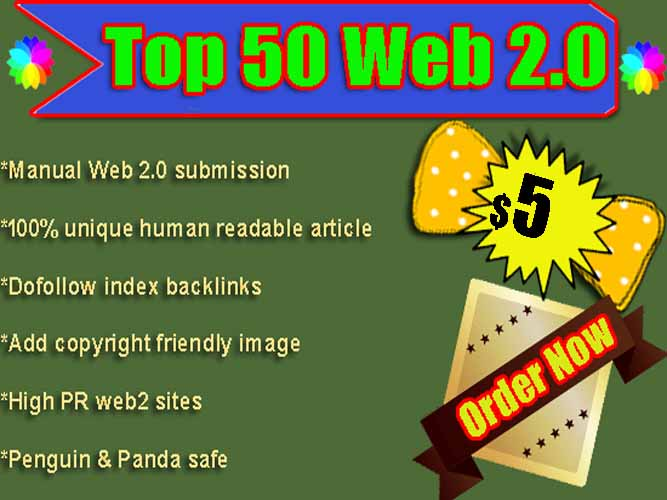 create 100 What Hat SEO Service 50 web 2.0 backlinks for google ranking