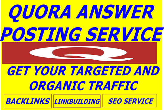 Promote Your Website By QUORA Answers with Contextual...