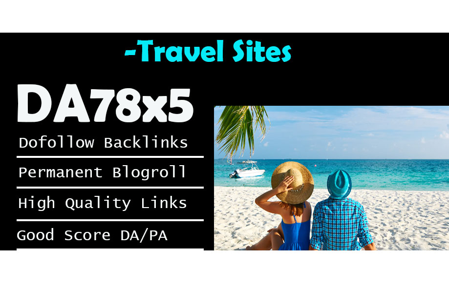 Give Link Da78x5 Travel Site Blogroll Permanent
