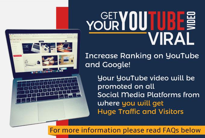 Do shoutouts for any YouTube Video on Social Media