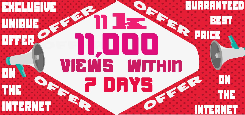 Get 11000 Video Views