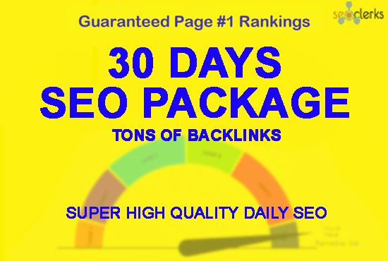 Manually 30 days SEO service, daily whitehat backlin...