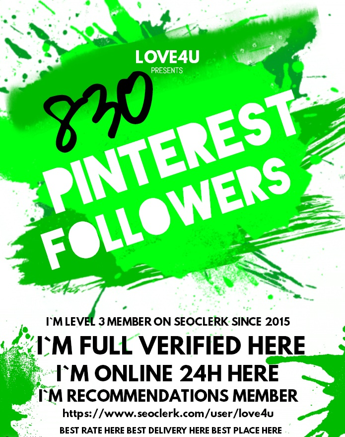 Get 800 Pinterest Followers Real Human with world wide Followers