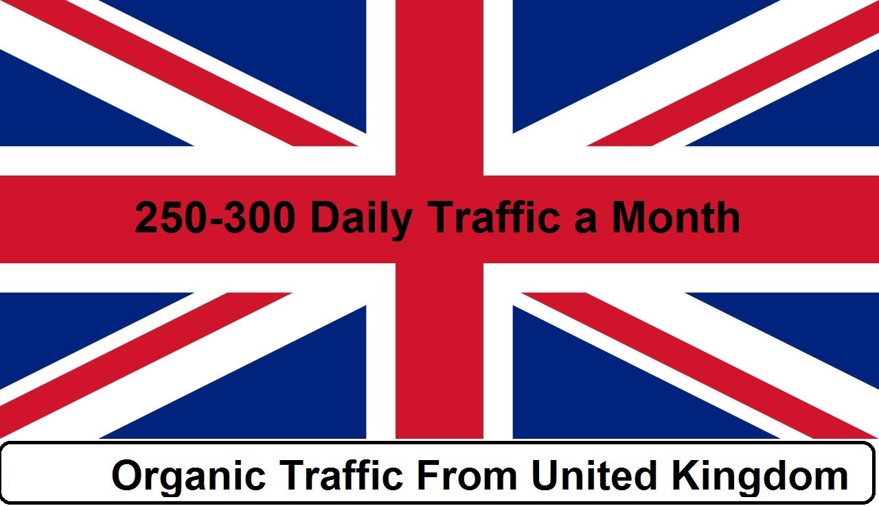 provide 150 to 250 daily UK traffic for one month