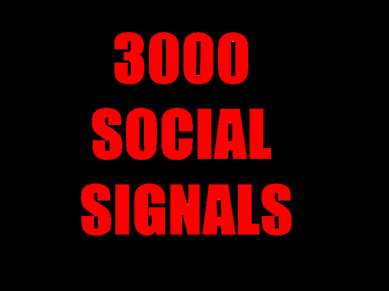 3000 HQ SOCIAL SIGNALS BEST CPA MARKETING PACKAGE FRO...