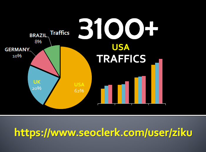 New Year Special Send Ulimited USA Web Traffics for 2 Days with Social Media Referral