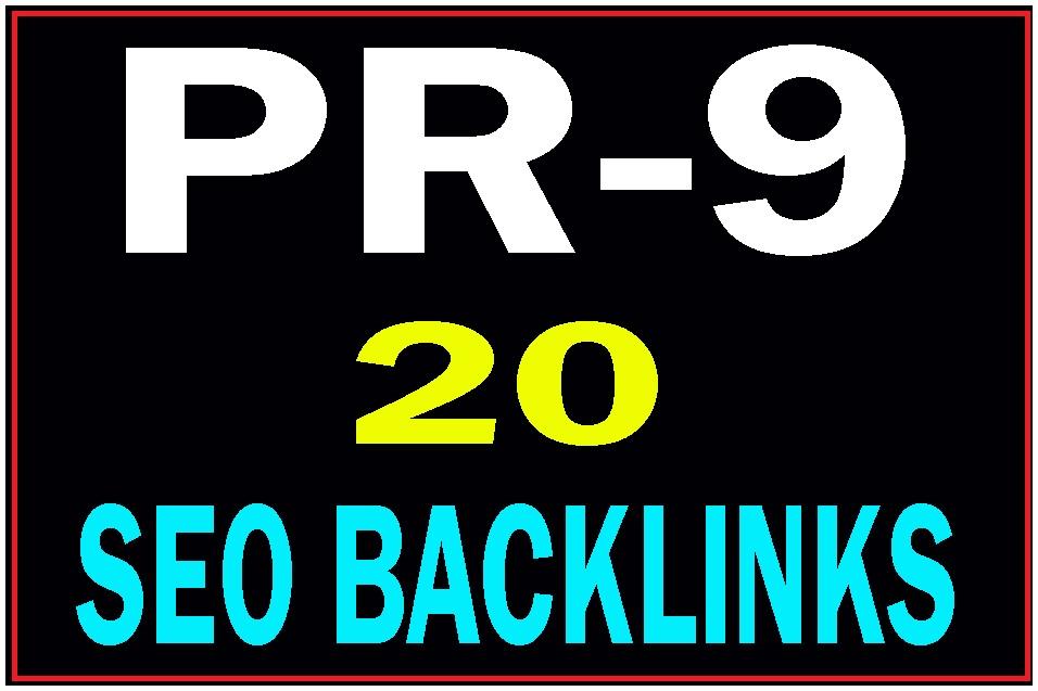 20 Pr9 DA 80+ Manually created high PR safe seo backlinks