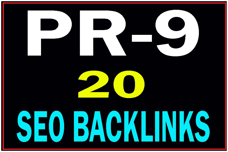 Manually Create DA 80+ 20 Pr9 safe seo high PR backlinks