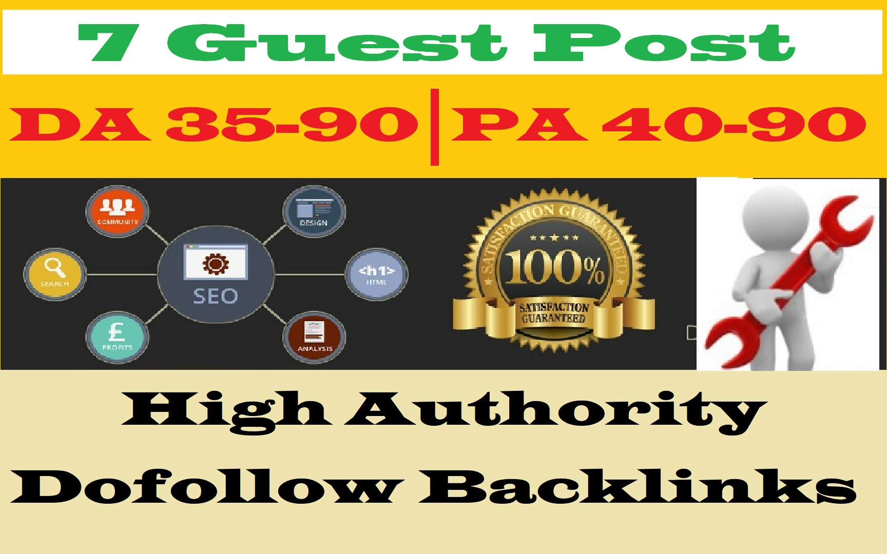 Publish 10 Guest Posts On 10 different High DA45+ Blogs