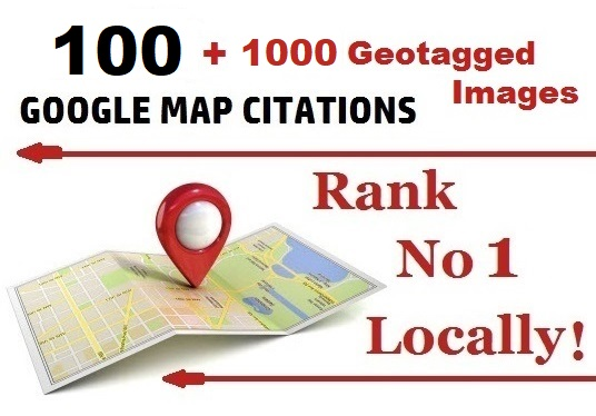100 Google Map Citations + 1000 Geotagged Images for Local SEO